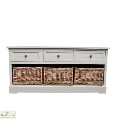 Gloucester 3 Drawer 3 Basket Storage Bench_10