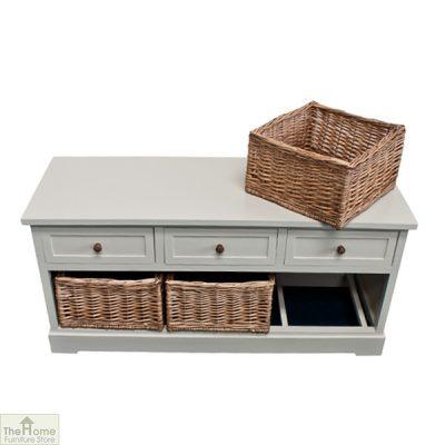 Gloucester 3 Drawer 3 Basket Storage Bench_11