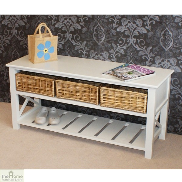 Gloucester 3 Basket Shoe Storage Bench_1