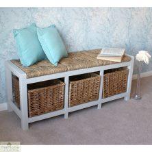 Casamoré Gloucester 3 Basket Storage Bench