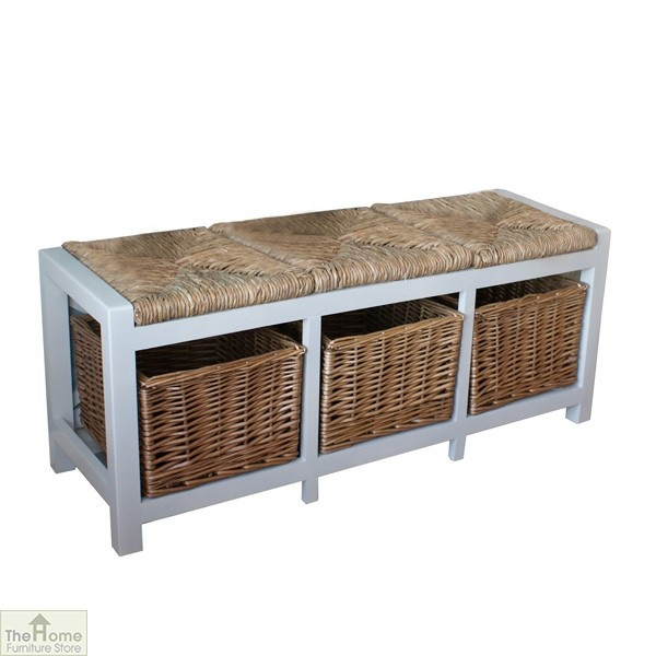Gloucester 3 Basket Storage Bench