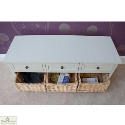 Gloucester 3 Drawer 3 Basket Storage Bench_5