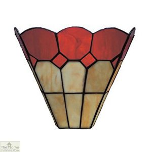 Red Tiffany Bistro Wall Light
