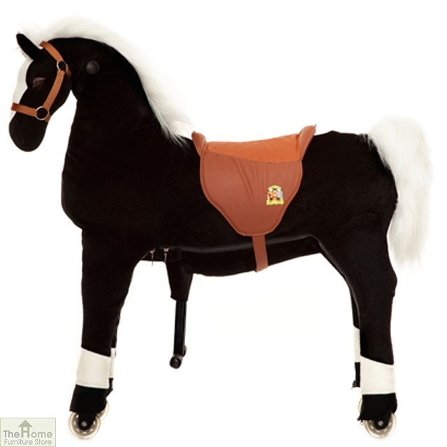 Ride On Horse Toy For Children Black The Home Furniture
