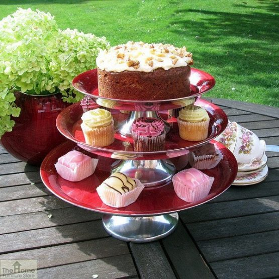 Red Finish Cake Stand_2