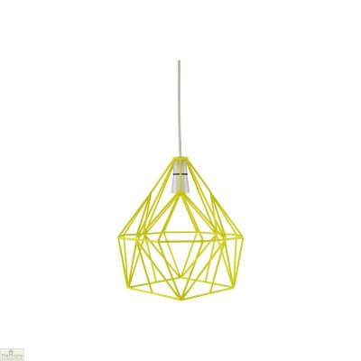Fluorescent Yellow Wire Lampshade