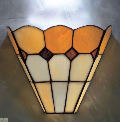 Brown Tiffany Bistro Wall Light_1