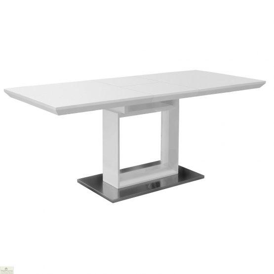 White High Gloss Extending Dining Table