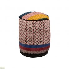 Cotton Block Printed Pouffe