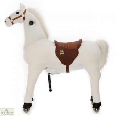 Ride On Horse Toy For Children White_2