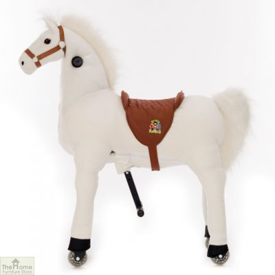 Ride On Horse Toy For Children White_3
