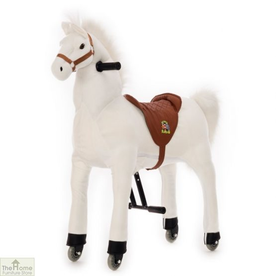 Ride On Horse Toy For Children White_4