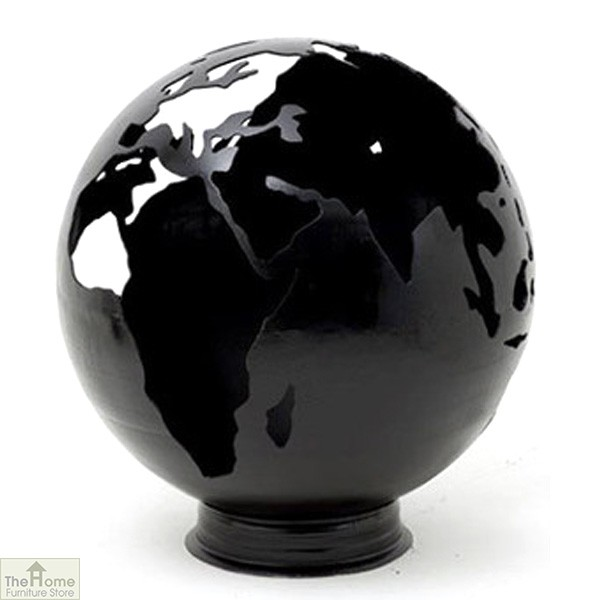Black Earth Globe Fire Pit