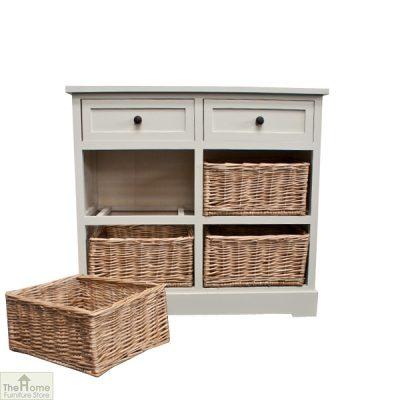 Gloucester 2 Drawer 4 Basket Storage Unit_11