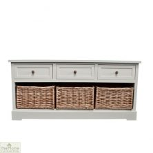Gloucester 3 Drawer 3 Basket Storage Bench