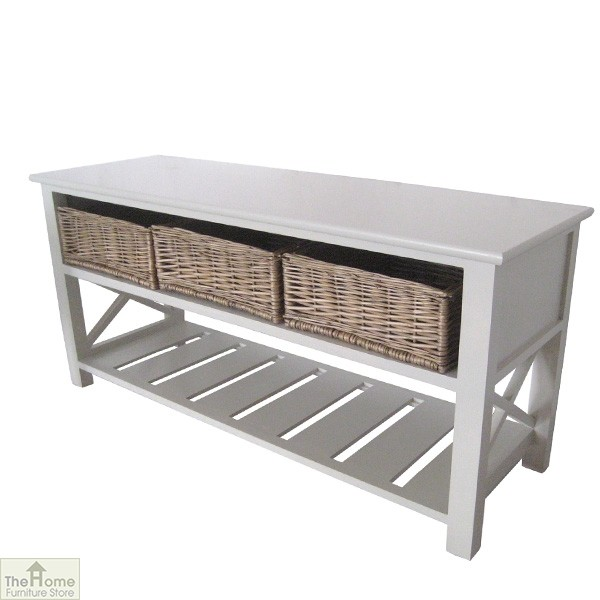 Gloucester 3 Basket Shoe Storage Bench