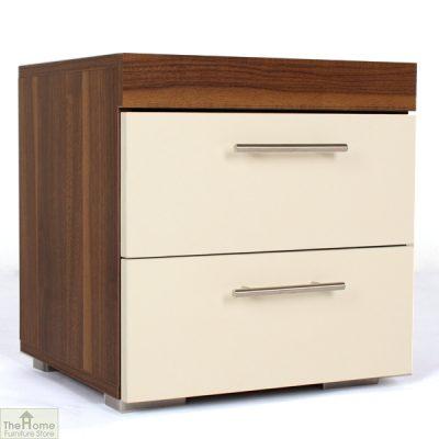 Off White 2 Drawer Bedside Cabinet