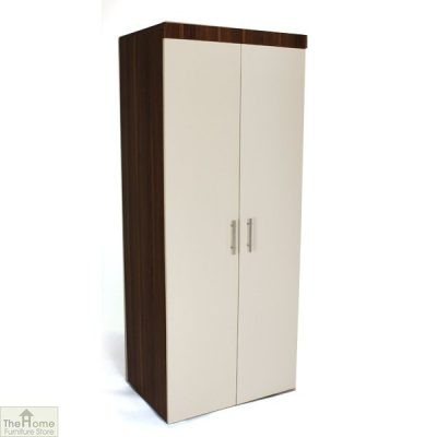 Off White 2 Door Wardrobe