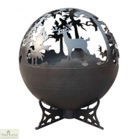 Black Deer Globe Fire Pit
