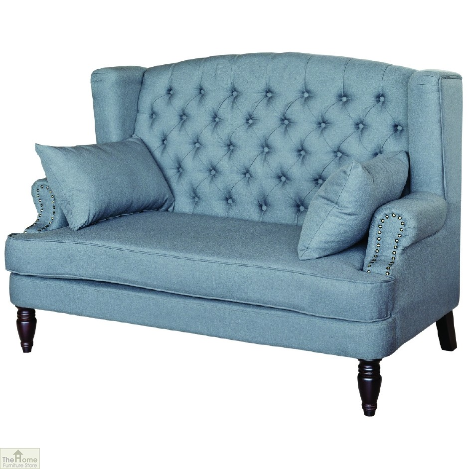 chesterfield style 2 seater sofa the home furniture store. Black Bedroom Furniture Sets. Home Design Ideas