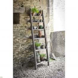 Rustic Wooden Shelf Ladder_1
