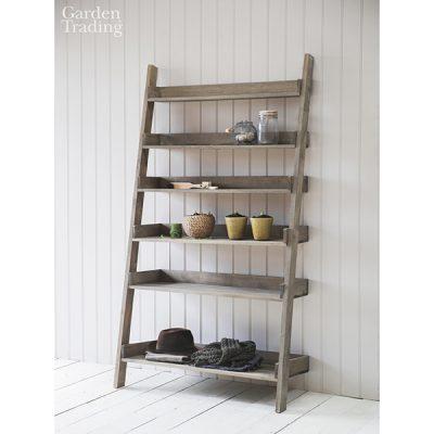 Wide Wooden Shelf Ladder_1