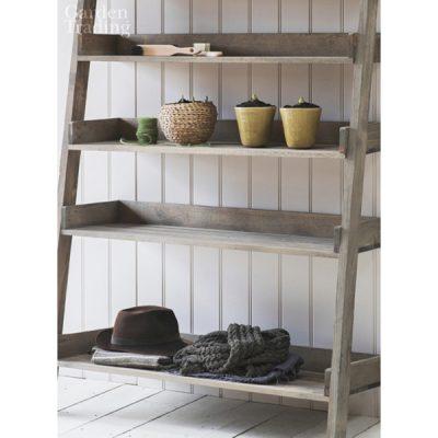 Wide Wooden Shelf Ladder_2