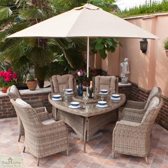 Casamoré Corfu 6 Seater Triangular Dining Set-1