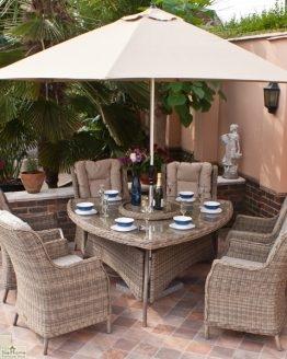 Casamoré Corfu 6 Seater Triangular Dining Set