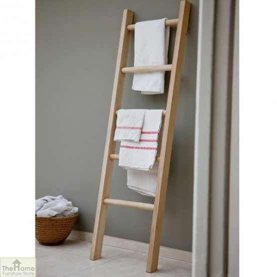 Raw Oak Towel Ladder-1