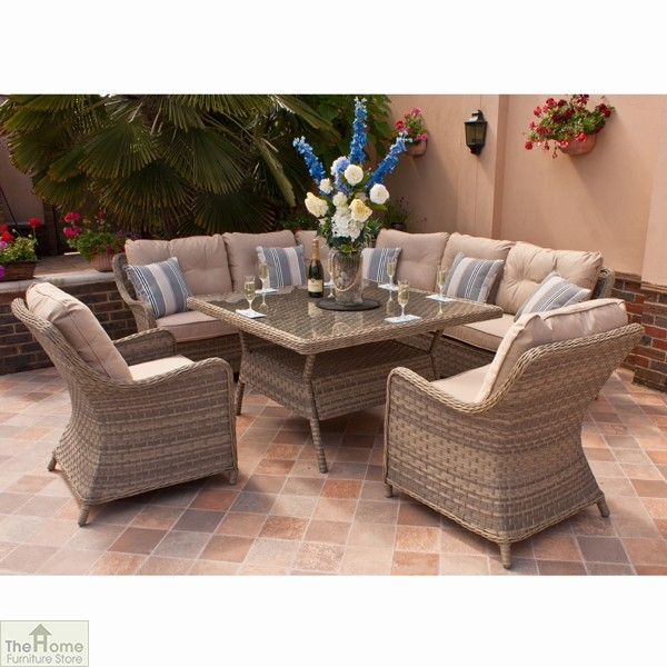 Casamoré Madrid Natural Corner Dining Set_1