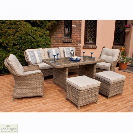 Casamoré Corfu Rectangular Sofa Dining Set