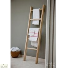 Hambledon Raw Oak Towel Ladder