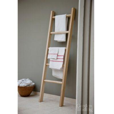 Raw Oak Towel Ladder_1