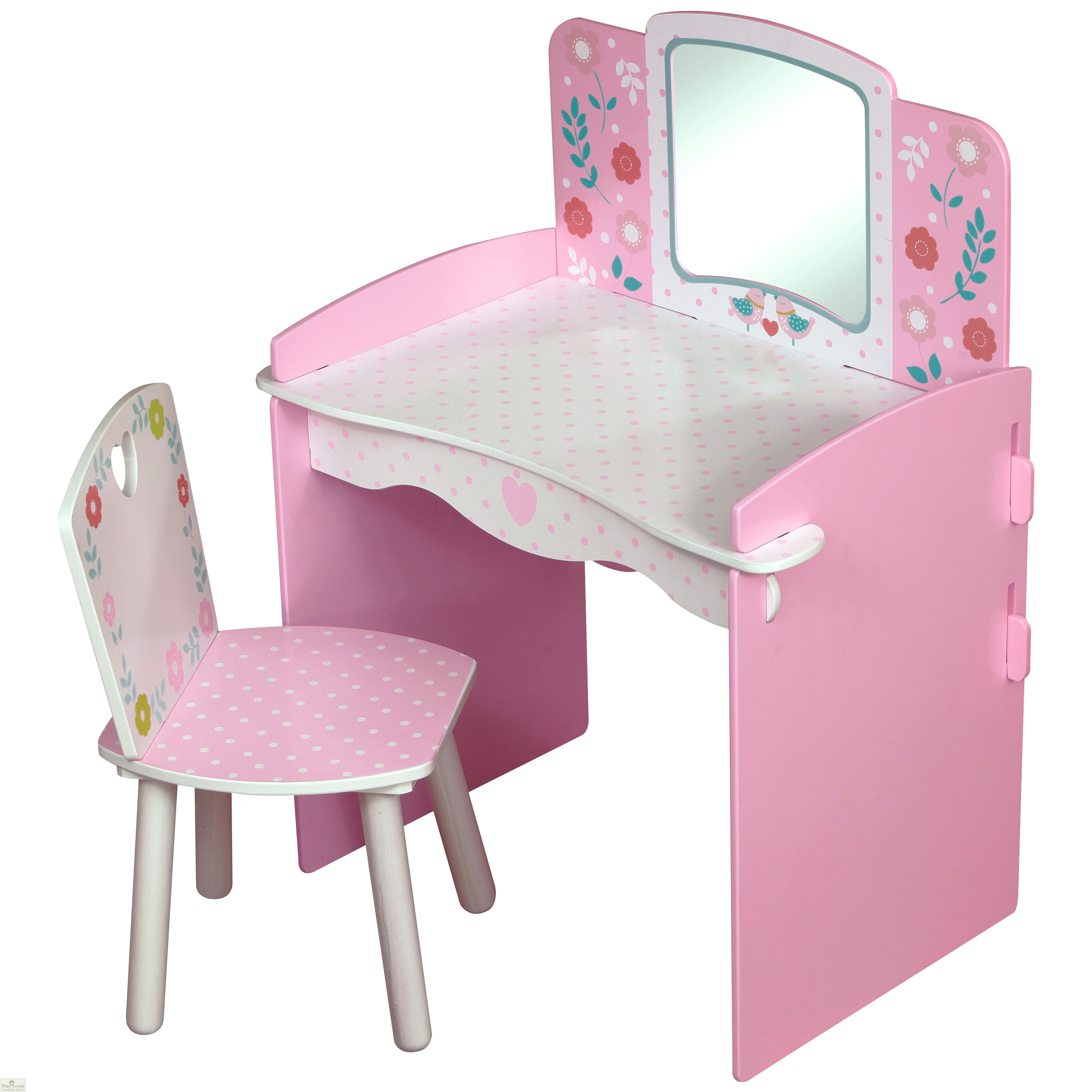 Country cottage dressing table and chair the home for Home furniture dressing table