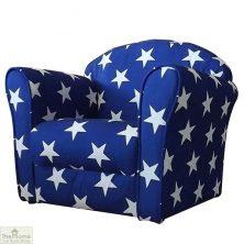 Childrens Mini Armchair Blue Stars