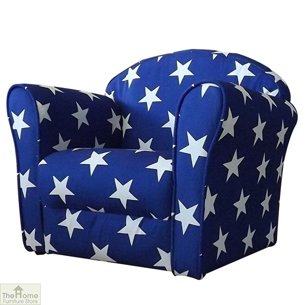 Childrens Mini Armchair Blue Stars