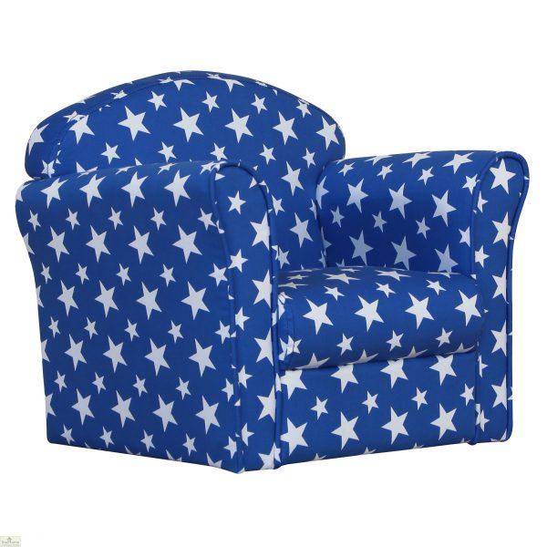 Childrens Mini Armchair Blue Stars_1
