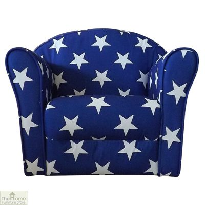 Childrens Mini Armchair Blue Stars_1