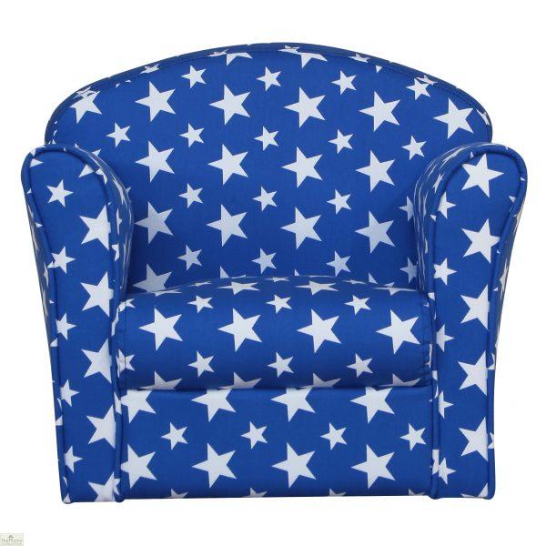 Childrens Mini Armchair Blue Stars_2