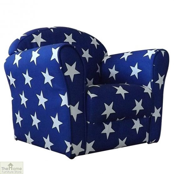Childrens Mini Armchair Blue Stars_2