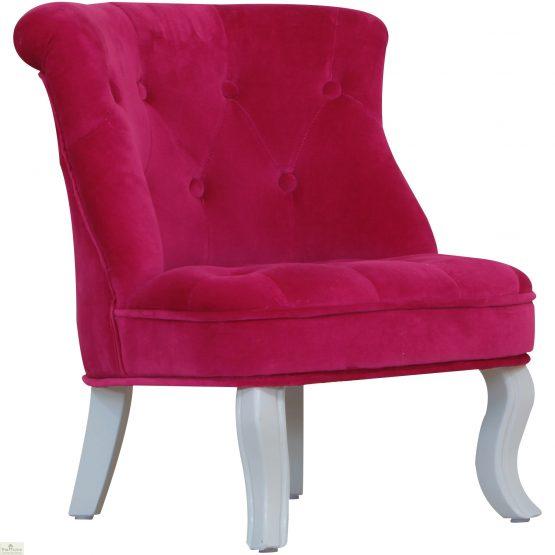 Childrens Mini Chair Pink Velvet_1
