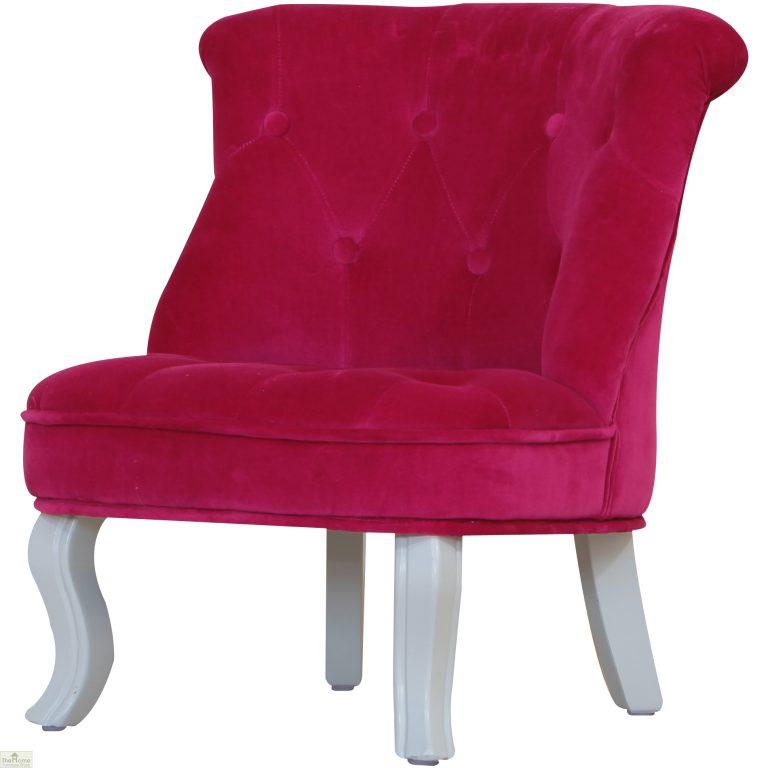 Childrens Mini Chair Pink Velvet