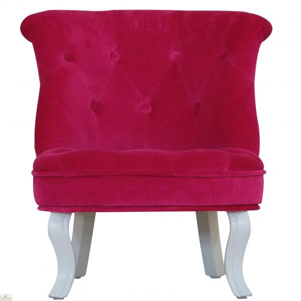 Childrens Mini Chair Pink Velvet_2