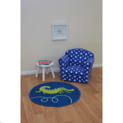 Childrens Mini Armchair Blue Stars_3