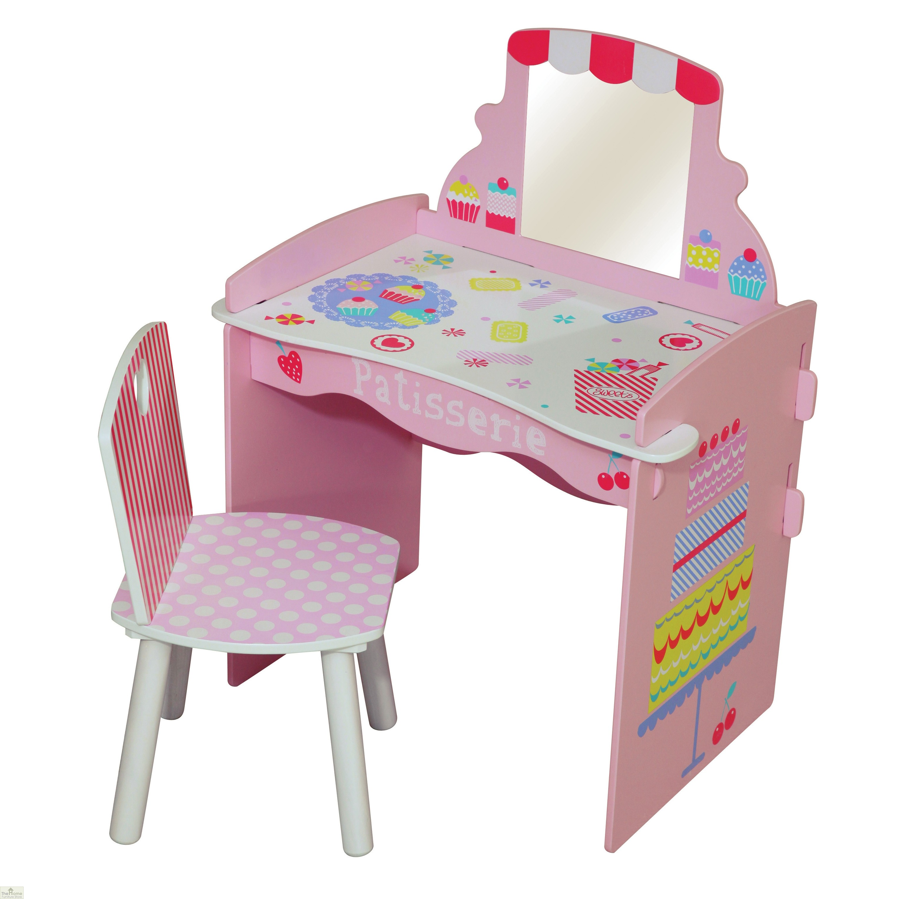 Patisserie Dressing Table And Chair | The Home Furniture Store