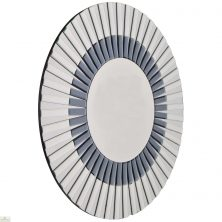 Round Glass Starburst Mirror