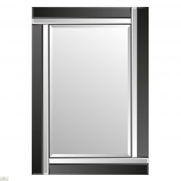 Venetian Black Colour Block Mirror