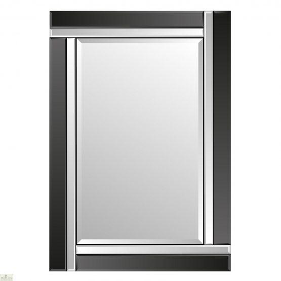 Venetian Black Colour Block Mirror
