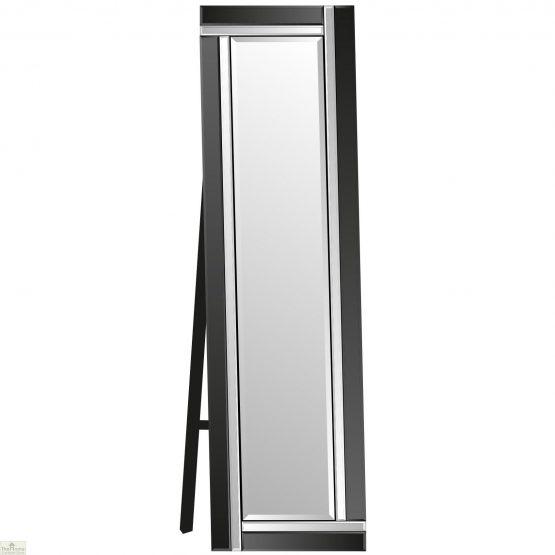 Venetian Black Colour Block Mirror_4